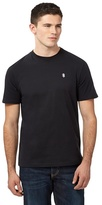 St George By Duffer Black Embroidered Logo T-shirt