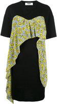 MSGM ruffled layered T-shirt dress