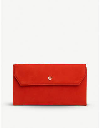 LK Bennett Dora suede envelope clutch bag