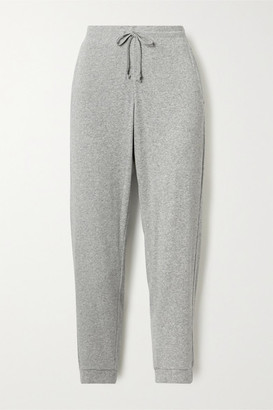 Skin Noa Cropped Ribbed-knit Track Pants - Gray