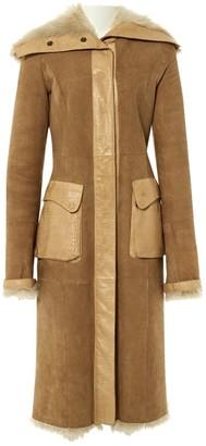 Valentino Beige Shearling Coat for Women