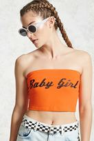 Forever 21 Baby Girl Graphic Tube Top