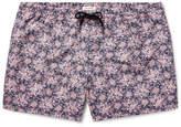 Club Monaco Arlen Slim-fit Mid-length Printed Swim Shorts - Navy