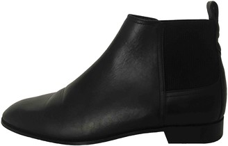 Massimo Dutti Black Leather Ankle boots