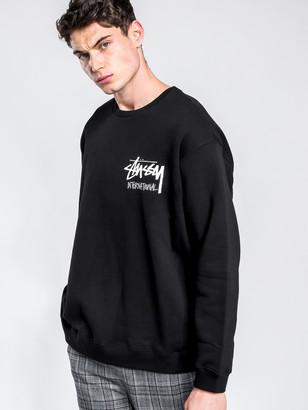 Stussy Stock I.N.T. Crew Jumper in Black