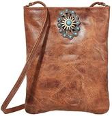 Leather Rock Paula Cell Pouch (Cognac) Cross Body Handbags
