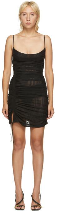 Thierry Mugler Black Tulle Tank Dress