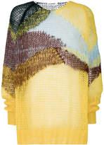 Jil Sander wave knit sweater