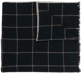 Isabel Marant Check Wool-Cashmere Scarf