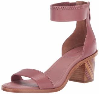 Frye Women's Brielle BIAS Zip Flat Sandal off white 9 M US