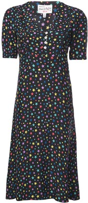 HVN Star Print Shortsleeved Dress
