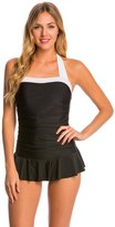 Jones New York Barcelona Shirred Swim Dress 8147643
