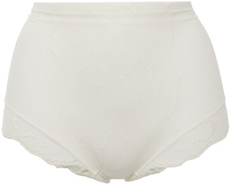Wacoal Embroidered Stretch-tulle High-rise Briefs