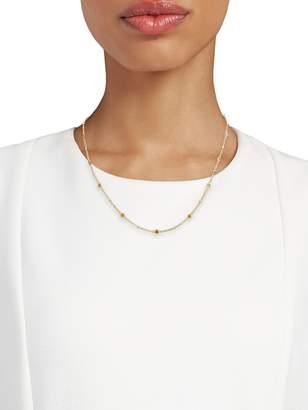 Effy 14K Yellow Gold, Yellow Sapphire & Diamond Station Necklace