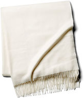 One Kings Lane Cashmere Throw, Gesso Cream