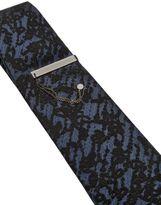 Sterling Silver Tie Clip W/ Pin & Chain