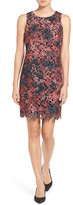 Vince Camuto Printed Lace Shift Dress (Petite)