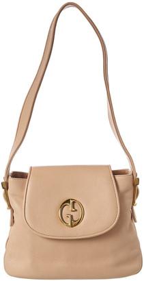 Gucci 1973 Beige Calfskin Leather Shoulder Bag
