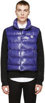Moncler Blue Shiny Tib Down Vest
