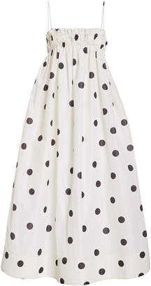 Ganni Recycled Polda Dot Midi Dress