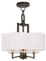 Amenia 4 - Light Unique / Statement Square / Rectangle Chandelier with Crystal Accents Latitude Run Finish: Olde Bronze