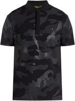 Valentino Camauflage-print cotton-piqué polo shirt