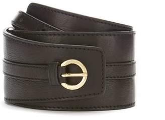 Mint Velvet Black Wide Leather Belt