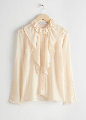 And other stories Ruffle Bodice Button Up Blouse
