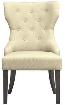 Charlton Homeâ® Palmira Upholstered Dining Chair Charlton HomeA Upholstery Color: Beige