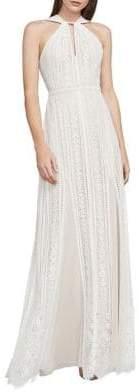 BCBGMAXAZRIA Aloysha Floor-Length Halter Gown