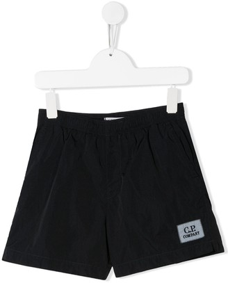 C.P. Company Kids Logo Patch Swimming Shorts