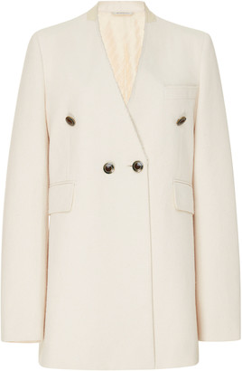 Givenchy Collarless Cotton-Blend Blazer
