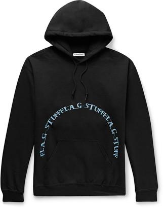 Flagstuff Logo-Print Fleece-Back Cotton-Blend Jersey Hoodie