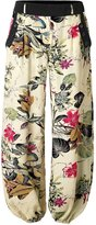 BAISHENGGT Women's Casual Jogger Harem Pants With Side Pockets Apricot Floral