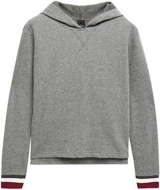 ELSE Doodle Melange Cotton-blend Fleece Hooded Pajama Top