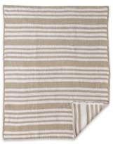 CoCalo Striped Chenille Knitted Blanket in Grey