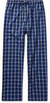 Derek Rose Barker Checked Cotton Pyjama Trousers - Midnight blue