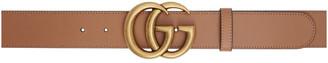 Gucci Tan GG Marmont Belt