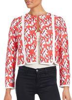 Giambattista Valli Floral Printed Cropped Jacket