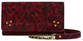 Jerome Dreyfuss Jack Mini Leopard-print Suede Shoulder Bag - Claret