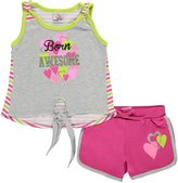"""Real Love Little Girls' """"Born Awesome"""" 2-Piece Outfit"""