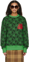 Thumbnail for your product : SSENSE WORKS SSENSE Exclusive Jeremy O. Harris Black & Green Rose Sweatshirt
