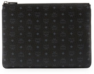 MCM Medium Visetos Original Leather Pouch