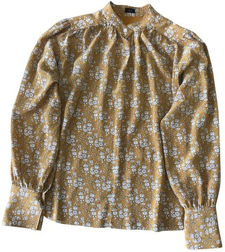 Joseph Yellow Silk Top for Women