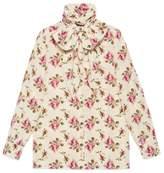 Gucci Silk shirt with garden print