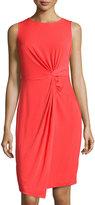 Catherine Catherine Malandrino Front-Twist Sheath Dress, Redrum Orange