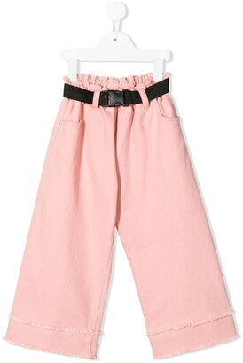Andorine Belted Wide-Leg Jeans