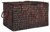 Household Essentials Large Autumn Wicker Storage Trunk - Brown