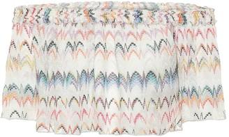 Missoni Mare Zig-zag knit off-shoulder crop top