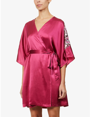 Nk Imode Caprise floral-embroidered silk robe